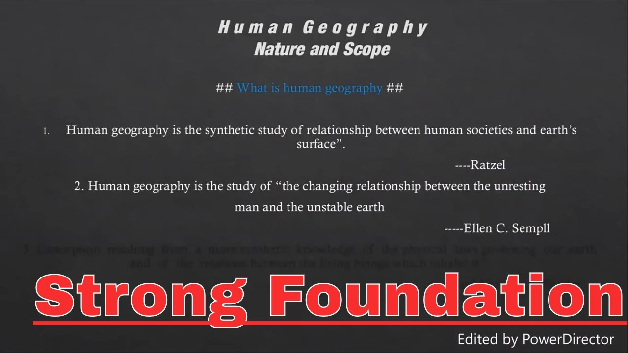 nature of human geography