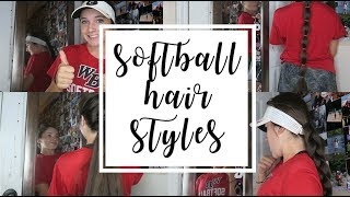 easy softball hairstyles!    Olivia Lacey