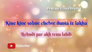 Love u Tenu Kehna E Par Bhula Te reh Janda || new punjabi romantic status for whatsapp