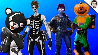 ALL HALLOWEEN 2018 SKINS LEAKED In Fortnite! (Female Skull Trooper, Skull Ranger, Squahman, Emotes)
