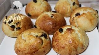 Weiche Rosinenbrötchen Rezept wie beim Bäcker# Kuruüzümlü pogca tarifi