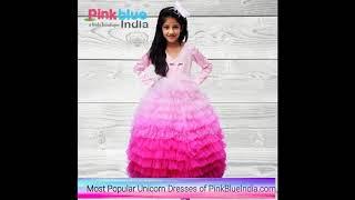 Rainbow Unicorn Birthday Dress Up Costume - Girls Unicorn Theme Party Dress - Kids Unicorn Outfit