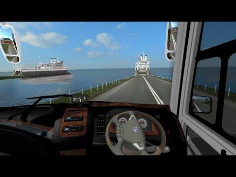 ETS2 : Bus Sempati Star Ngebut Agar Kebagian Masuk Kapal di Pelabuhan Banda Aceh