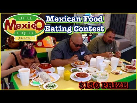 $150 CASH PRIZE MEXICAN FOOD EATING CONTEST @LittleChiquitoMexico In Maywood, CA #RainaisCrazy
