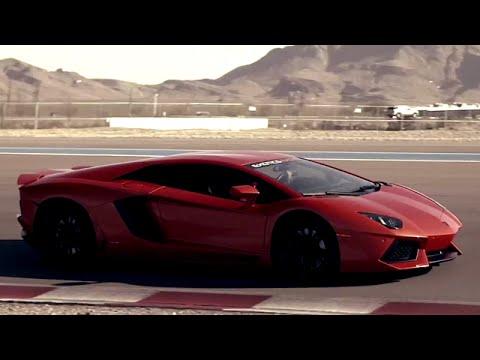 Driving A Lamborghini Aventador and Drifting in a Corvette