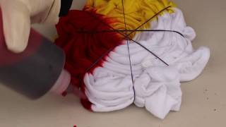 How To Make Rainbow Spiral Tie Dye T-shirt  - tie2dye4 Tutorial