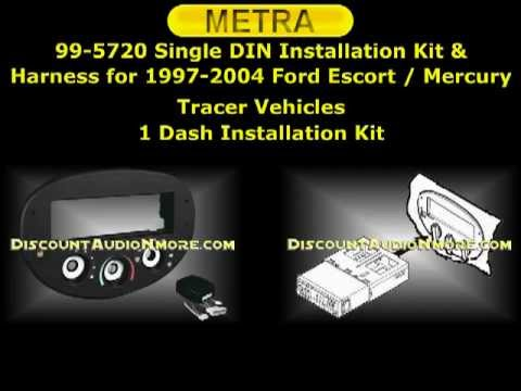 99-5720 $54.95 1997-2004 Ford Escape Mercury Tracer Single DIN Dash Kit Metra 995720 99 5720