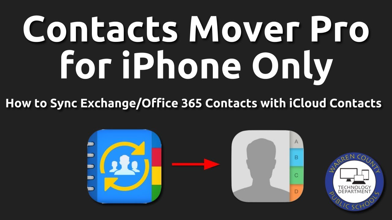 Sync Exchange Contacts with iCloud Contacts for iPhone Only