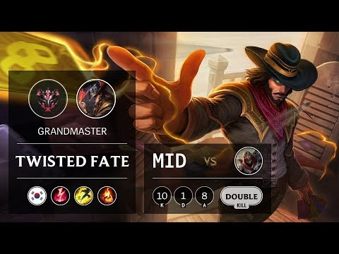 Twisted Fate Mid vs Zed - KR Grandmaster Patch 10.2