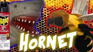 GIANT MURD3R HORNET VS. SHARK PUPPET!!!!!