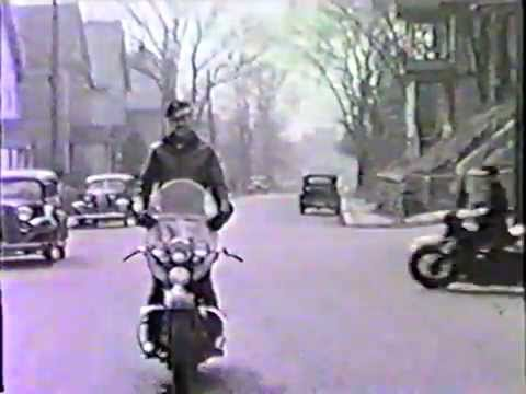 Motorcycling near Amsterdam, NY in the 40s