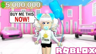 THE MOST SPOILED GIRL IN ROBLOX! A ROBLOX STORY