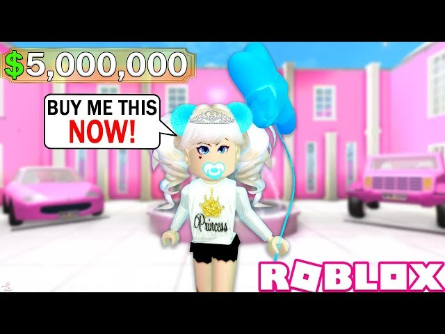 The Most Spoiled Girl In Roblox A Roblox Story Youtube