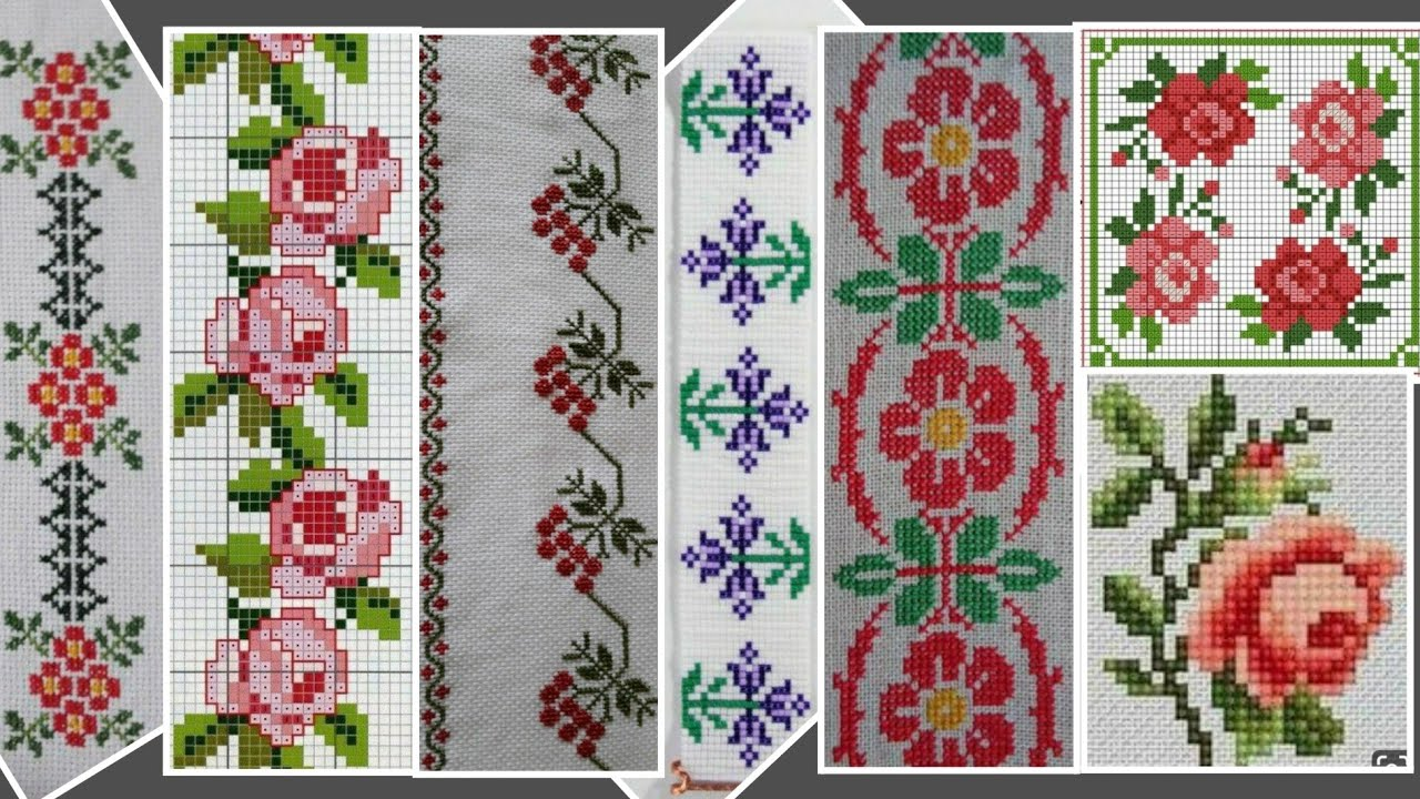Counted Clear Cross Stitch Dosuti Design Ponto Cruz New Tablecloth Border Middle Design Youtube