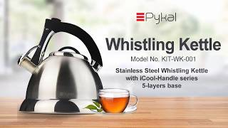 Top Rated Whistling Tea Kettle with Premium Stainless Steel FREE Tea Infusers by Pykal