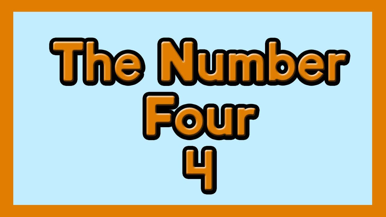 The Number Four for Children ESL and Kids with Autism
