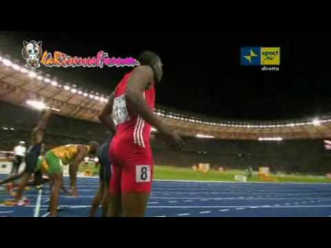 Mondiali Atletica Berlino 2009: WR 9''58 USAIN BOLT - 100 metri Finale