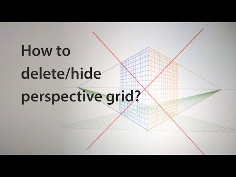 How to delete or hide perspective grid in Illustrator