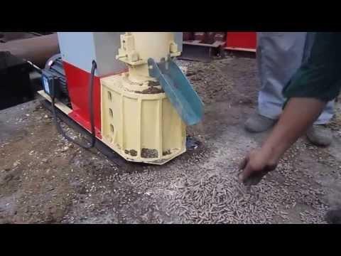 Mini home use sawdust diesel engine pellet machine working - ZHANGQIU YULONG MACHINE CO.,LTD
