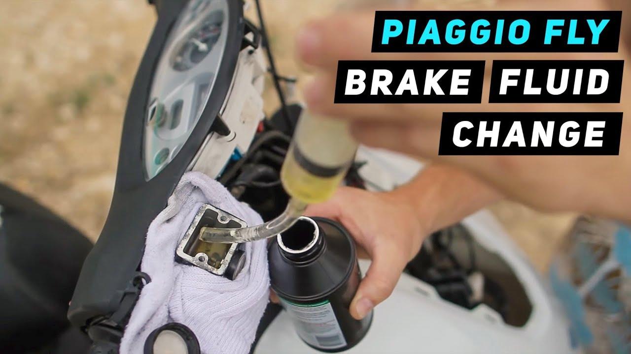 Piaggio Fly Brake Fluid Change Youtube
