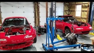 TWO DAY TURBO MIATA TRANSPLANT!