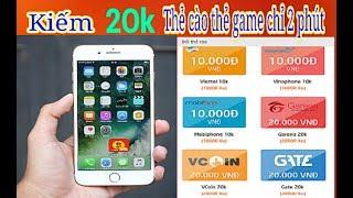 Bí mật kiếm thẻ cào điện thoại 20k chỉ với 5 phút | Bigcoin kiếm tiền online