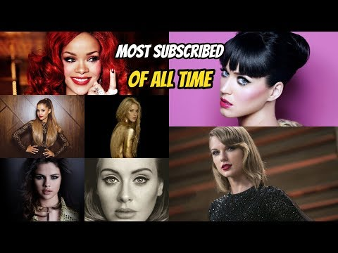 Top 10 Most Subscribed Female Singers of All Time on YouTube!!
