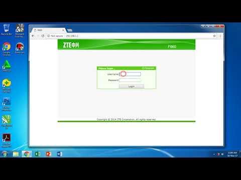 cara login router IndiHome ZTE F660 lupa password