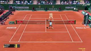 [ HD ] Roger Federer vs The Beast | Exhibition Match - Monte Carlo 2017 - 3D Animation
