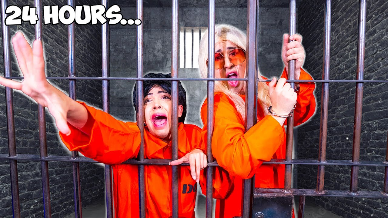 LOCKED IN PRISON FOR 24 HOURS CHALLENGE!