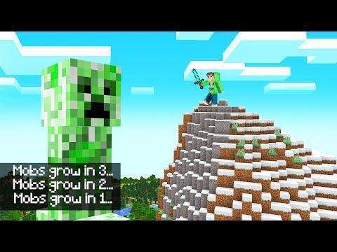 MOBS Get BIGGER And BIGGER Over TIME! (Minecraft)