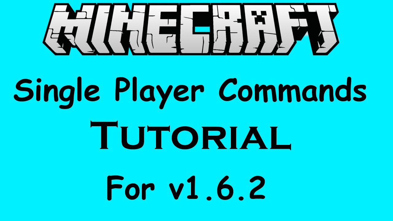 Tutorial #4 : How to install Single Player Commands (1.6.2 ...