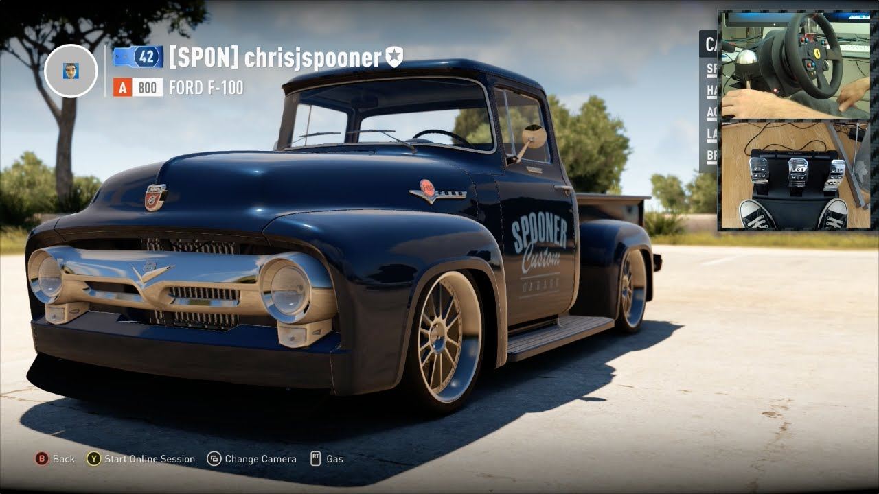 Forza Horizon Free Roaming In My Shop Truck With Wheel Pedal