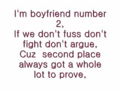 Boyfriend number 2 with lyrics