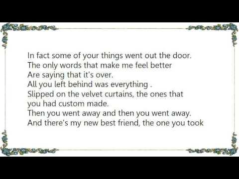 The one you left behind lyrics