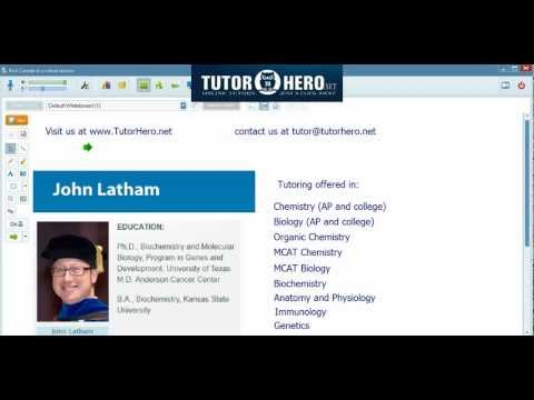 Online Chemistry and Biology Tutor
