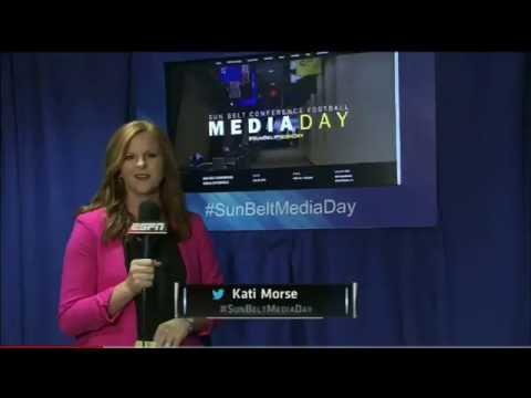 Kati Morse, Sideline Reporter: 2015 Sun Belt Football Media Day