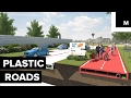 Recycled bottles to build stronger roads