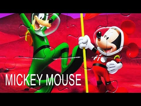 Mickey Mouse Jigsaw Puzzle Game Learn & Play Disney Puzzles