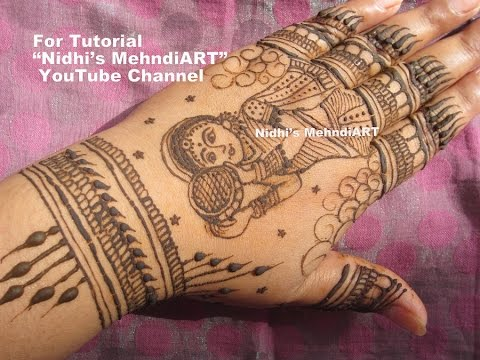 Karwa Chauth Special Mehndi Henna Design Looking Through Sieve by Nidhi\u0027s  MehndiART