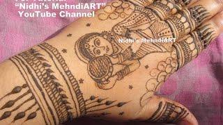 Karwa Chauth Special Mehndi Henna Design Looking Through Sieve by Nidhi's MehndiART