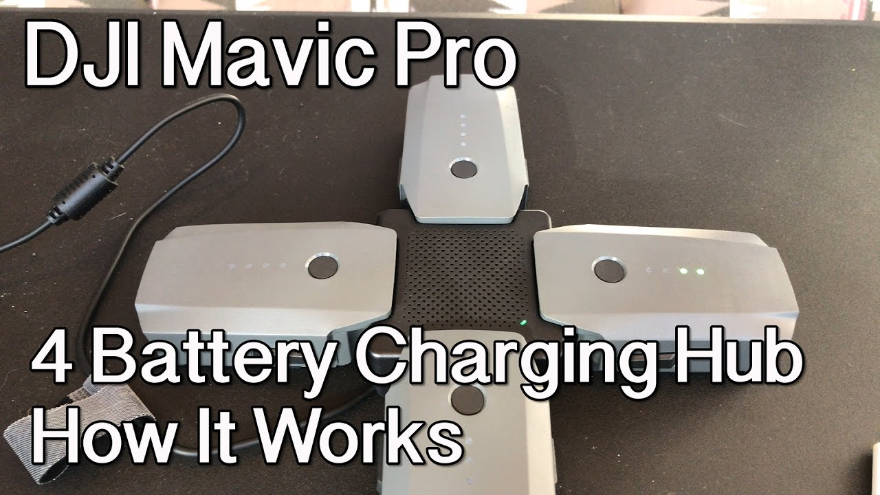 Work for Charging 4 Batteries Rantow Multi Battery Charger Hub Charging Board Adapter for DJI Mavic Air Drone with Digital Display