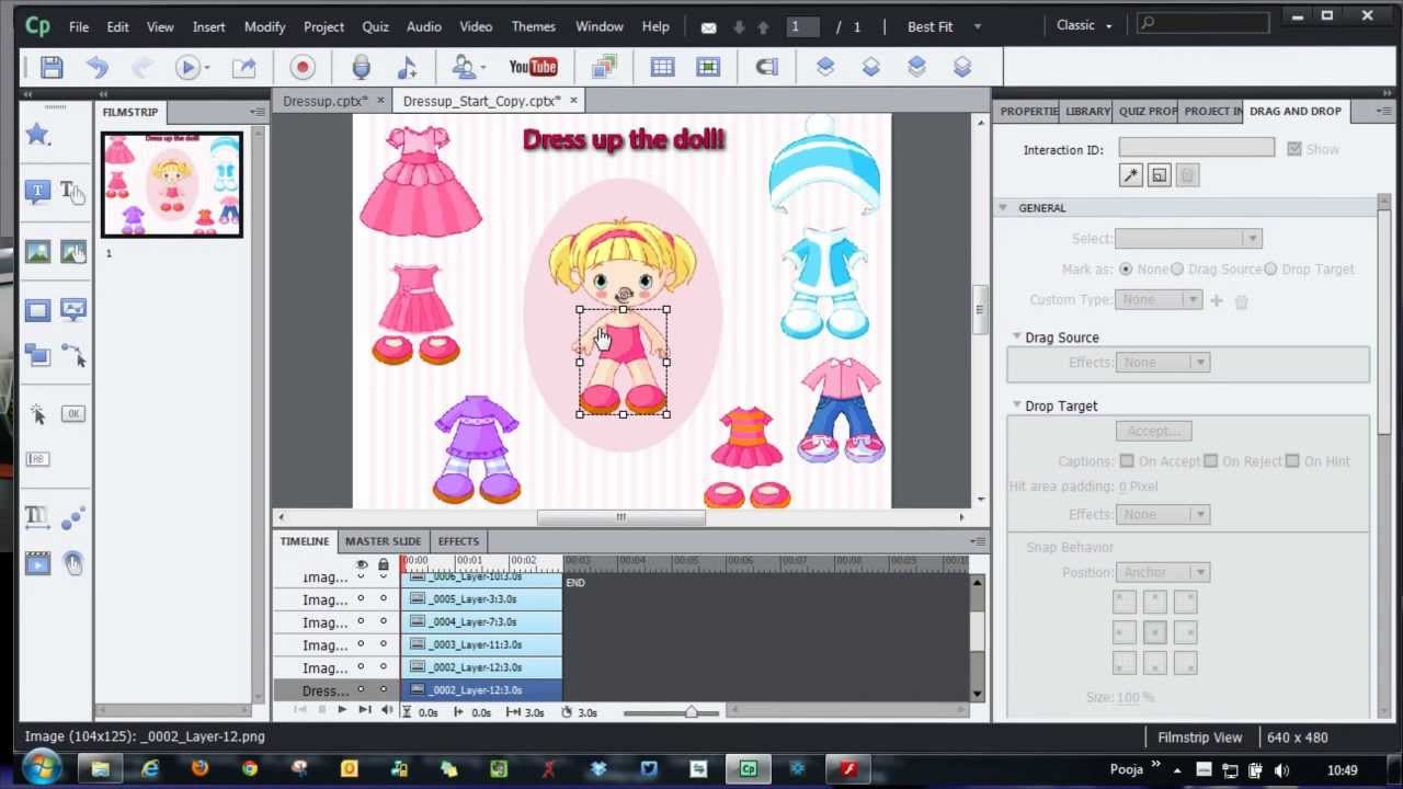 Drag And Drop Interaction Dressing Up The Doll Youtube