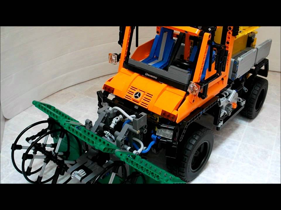 lego technic snow blower for unimog u400 8110 youtube. Black Bedroom Furniture Sets. Home Design Ideas