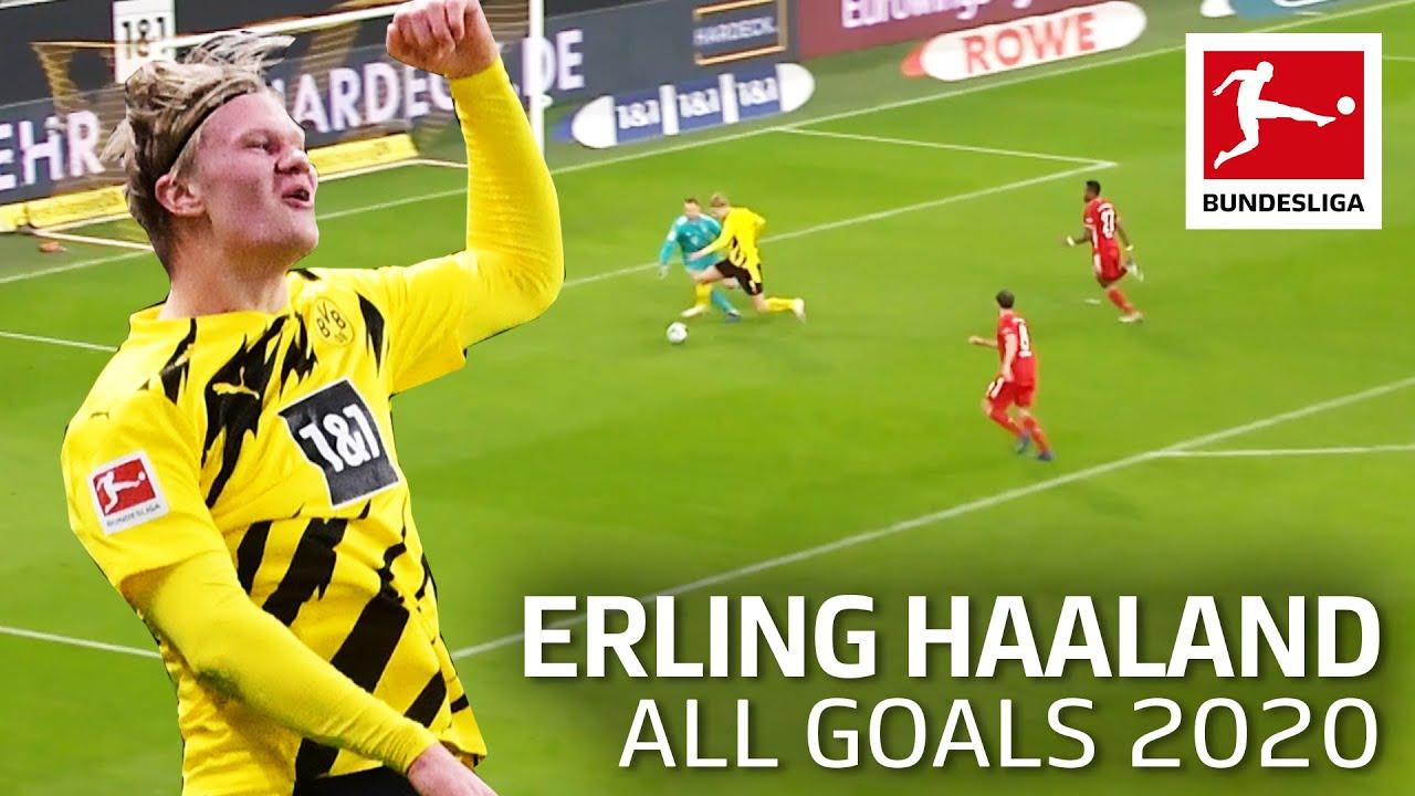 Erling Haaland All Goals 2020 Youtube