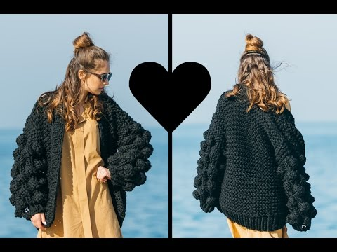 0baf66ea3ca2 Mumshandmade Warm Up Black Cardigan - Handmade from Greece - YouTube