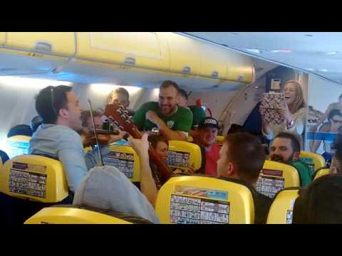 Trad Session Breaks Out On Flight From Dublin To Brussels