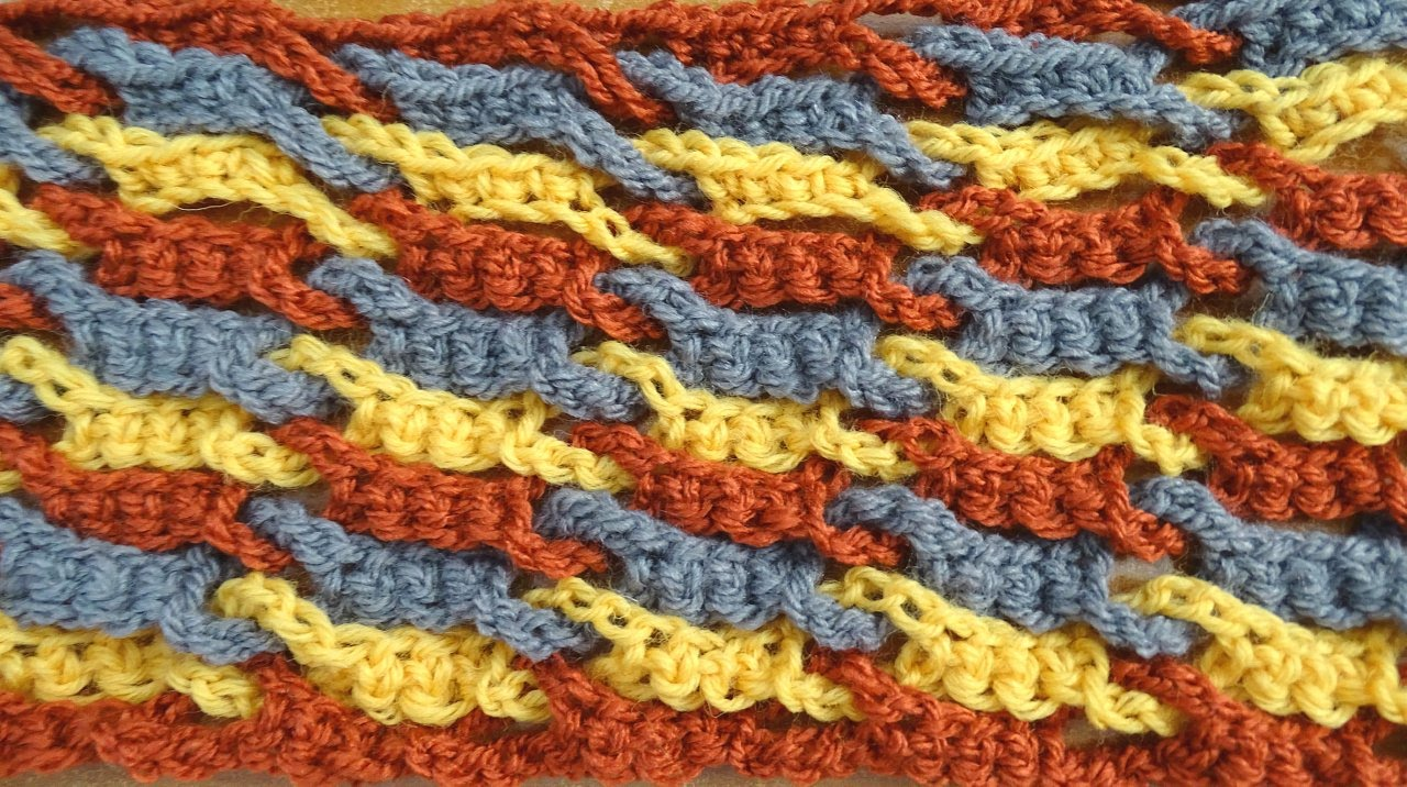 Single Weave and Link Stitch - Crochet Tutorial - YouTube