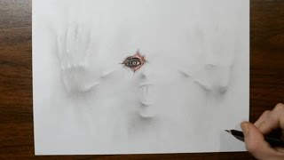 Drawing a Demon Under My Paper - 3D Trick Art