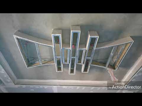 Décoration Salon Avec Placoplatre Enduit Et Peinture Moderne   YouTube